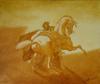 Mameluk huile sur toile dapres Gericault 55cm x46cm-pt