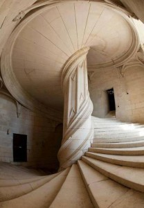 Staircase designed by Leonardo da Vinci